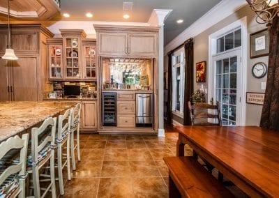 Kitchen with wine closet