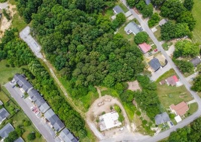 Aerial view of lot / houses